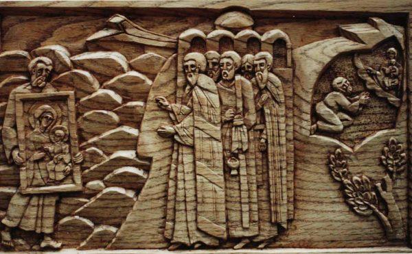 Casing for the Portaitissa icon, Iviron Monastery, Mount Athos