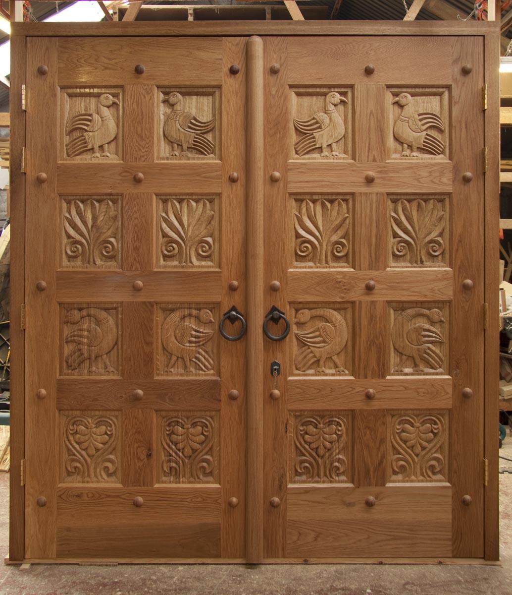 Doors for the church of mary magdalene madrid aidan