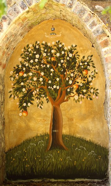 Apple tree, private house