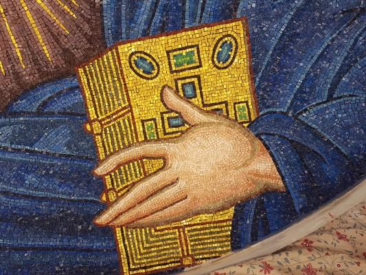 Pantocrator mosaic, detail