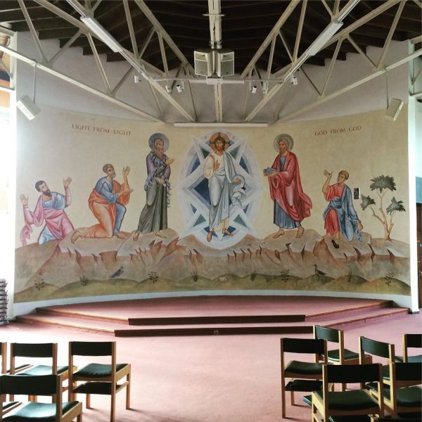 New wall painting at Catholic chaplaincy