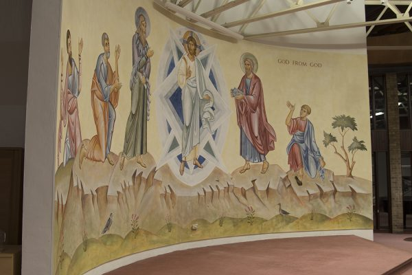 Transfiguration fresco icon all from left