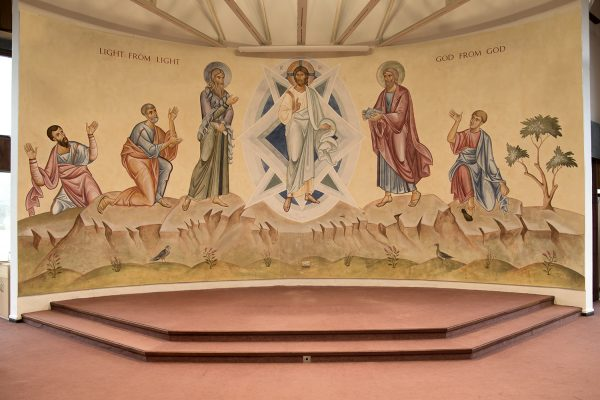 Transfiguration fresco icon all without altar