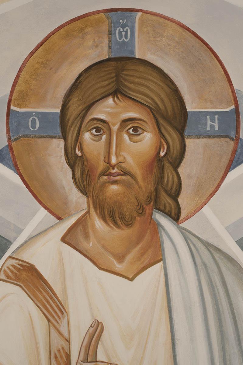 Jesus Christ, detail from Transfiguration fresco - Aidan ...