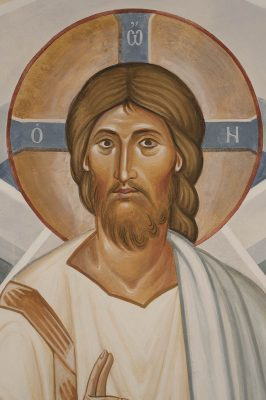 Transfiguration fresco icon xc face 1
