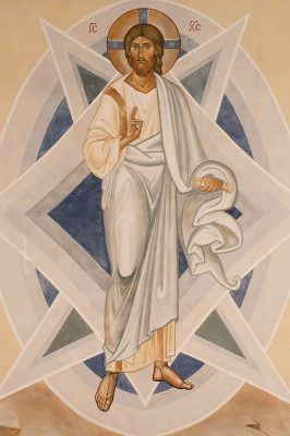 Transfiguration fresco icon xc figure 1
