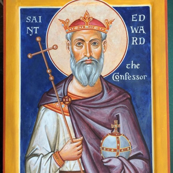 Here's the latest icon, of St Edward the Confessor.