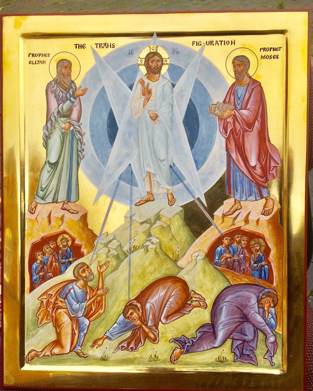 New icon of the Transfiguration. - Aidan Hart Sacred Icons