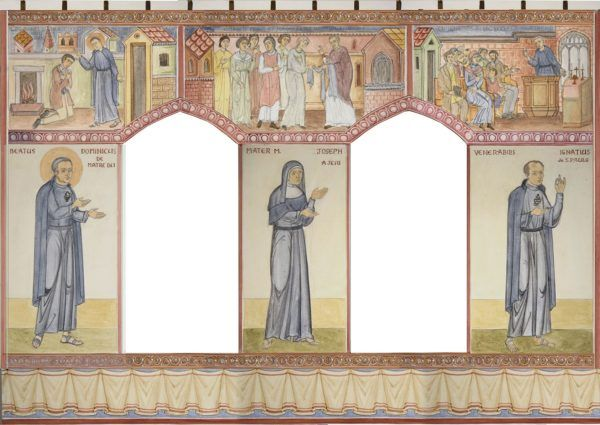 Designs for a side chapel, North Wall