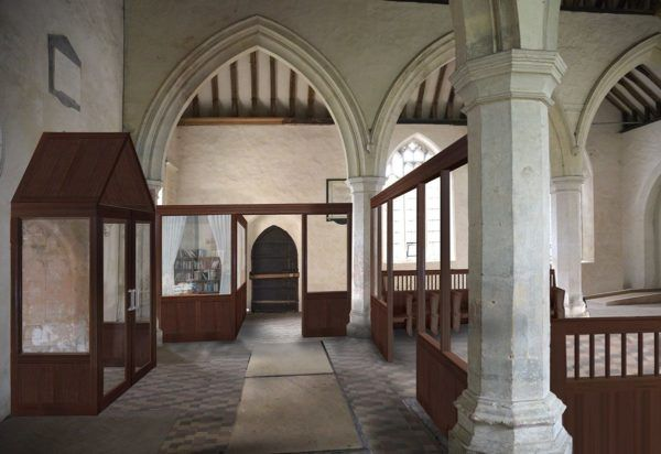 Furnishing design for a narthex, St Martin's, Colchester