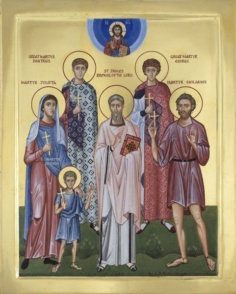 Patronal saints icon