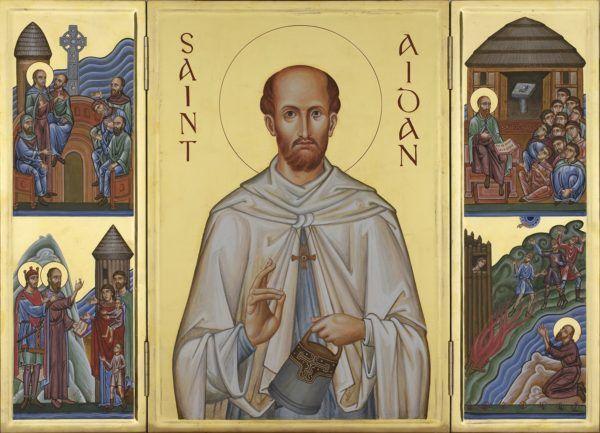 St Aidan triptych