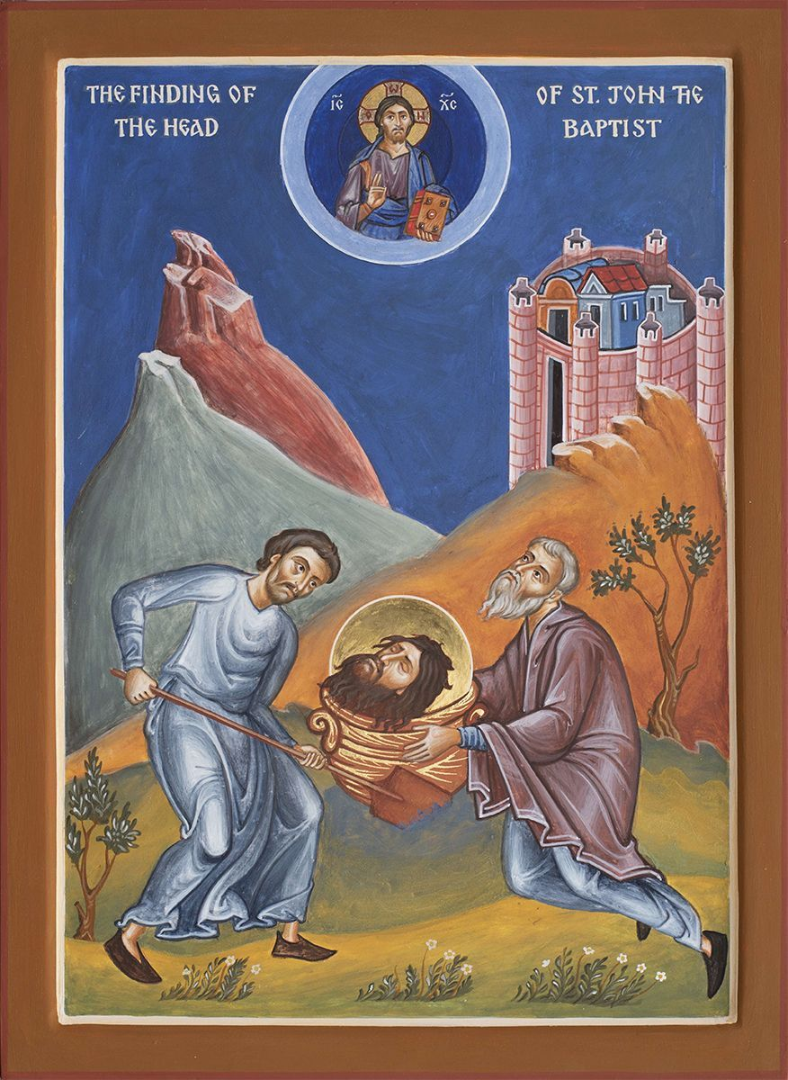 The Finding of the Head of St John the Baptist - Aidan Hart Sacred Icons