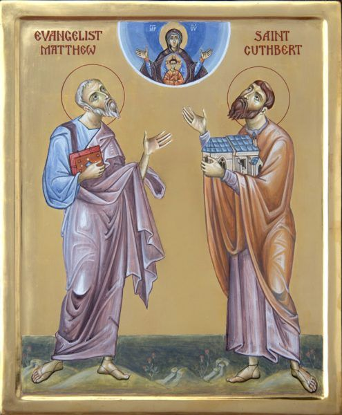 Apostle Matthew and St Cuthbert of LIndisfarne
